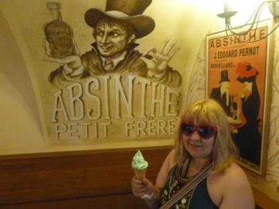 Adventures at the Absintherie earlier that day.