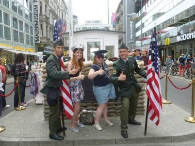 Extortionate touristy photos at Checkpoint Charlie.