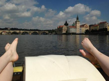 Our view. And also our feet.