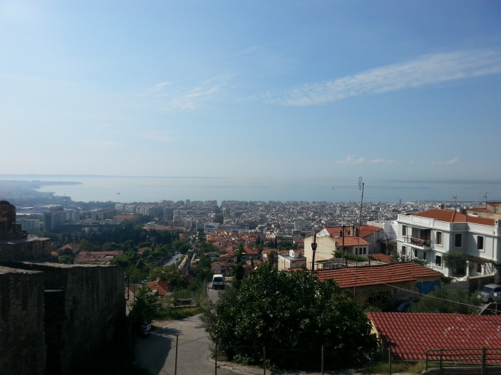View of the city from the top of the Trigonion Tower.