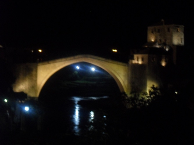 Bridge by night.