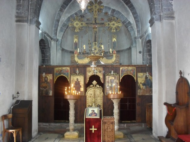 Inside one of the churches in the Old Town.
