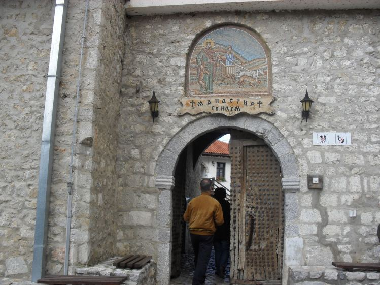 Entrance to the monastery.
