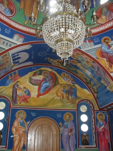 They're pretty big on chandeliers and vibrant frescoes.