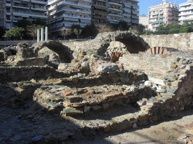 Ancient ruins at the Agora.