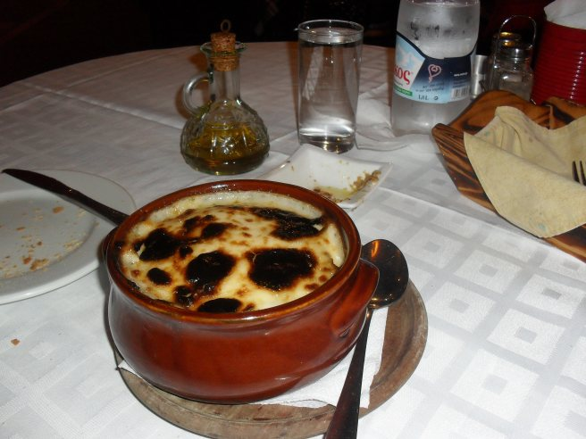 What I'm assured by TripAdvisor is the finest moussaka in Thessaloniki.