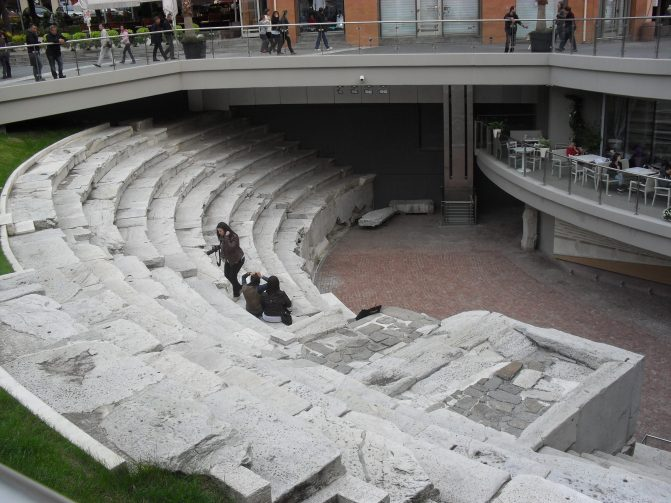 Uncovered section of a Roman stadium.
