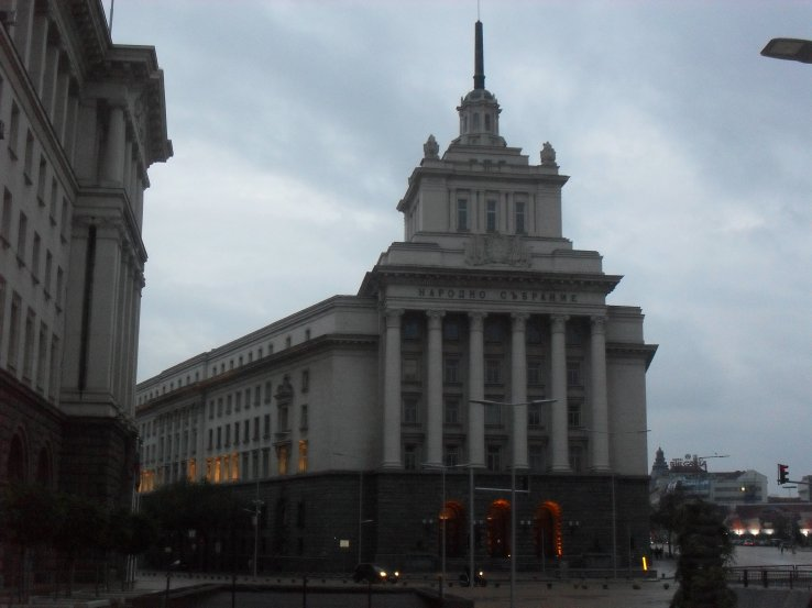 Government buildings.