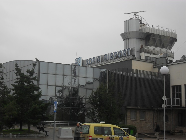 Sofia Airport is not exactly a work of art.