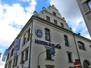 Hofbrauhaus beer hall.