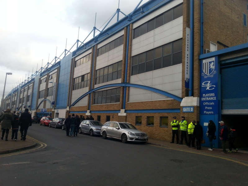 The outside of Priestfield.