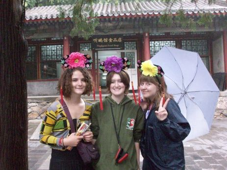 Summer Palace fun, with concubine headdresses