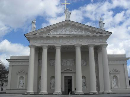 The impressive Greek-style cathedral.