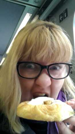 Attractive Danish pastry face.