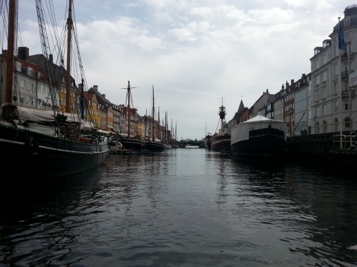 Nyhavn from the water on a canal tour