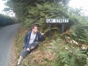 GAY STREET: Fittingly, we spent the stretch from Cockshut Road to Gay Street discussing who the most attractive male celebrities were (via a stop at a pub somewhere that served no food until the evening, but served me cider and had a pool table. Sorted.)