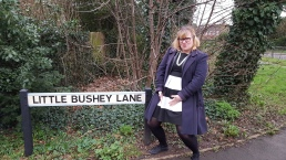 Me showing off my little bushey lane.
